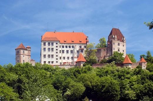 Stock Photo: 1848R-296811 Trausnitz castle, Landshut, Lower Bavaria, Germany
