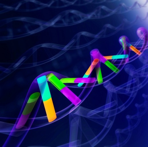 DNA sequence, abstract : Stock Photo