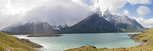 Lago Nordenskjoeld, Torres del Paine National Park, Patagonia, Chile, South America : Stock Photo