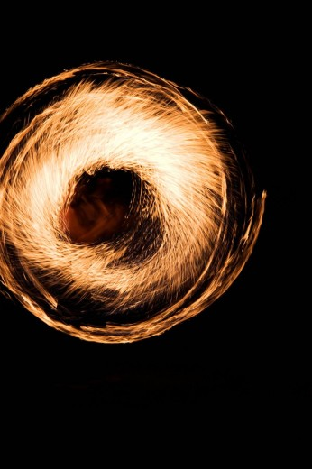 Fire artist at the Open Flair Festival in Ingolstadt, Bavaria, Germany, Europe : Stock Photo