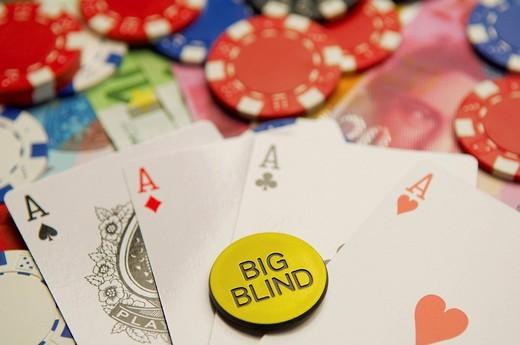 Stock Photo: 1848R-300382 Texas Hold´em Poker Big Blind