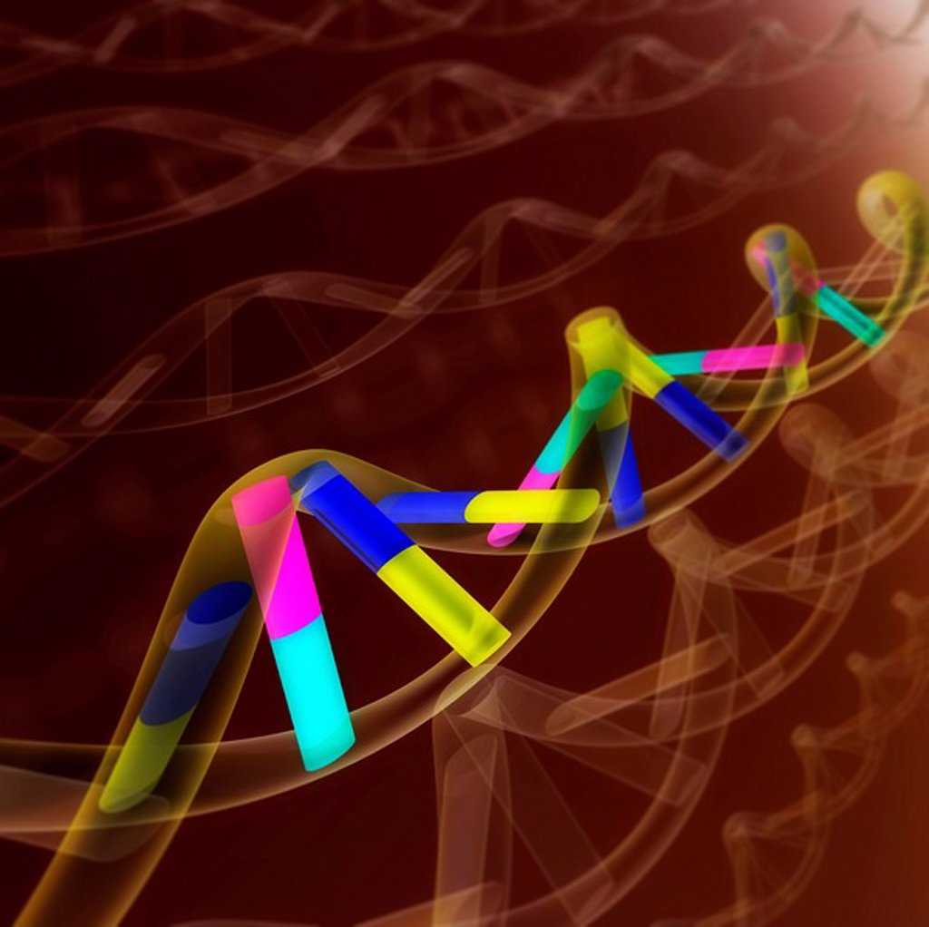 Stock Photo: 1848R-302154 DNA sequence, abstract
