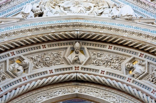 Stock Photo: 1848R-302502 Santa Maria del Fiore detail of the cathedral Florence Tuscany Italy