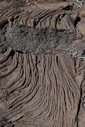 Solidified lava at Piton de la Fournaise volcano, La Reunion Island, France, Africa : Stock Photo