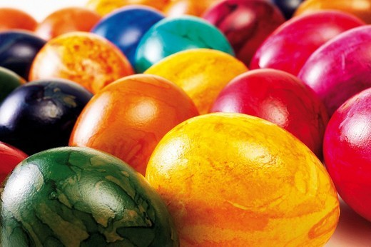 Colourful painted Easter eggs : Stock Photo