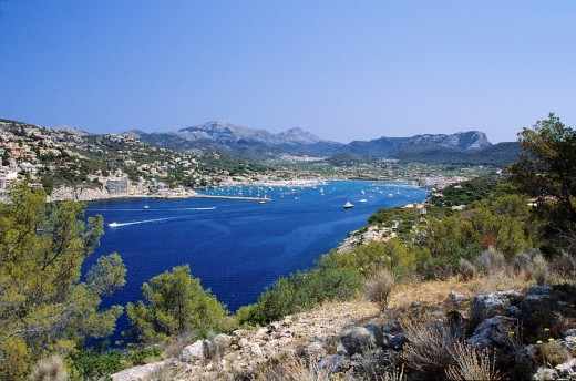 View over the harbor of Port Andratx, Mallorca, Spain : Stock Photo