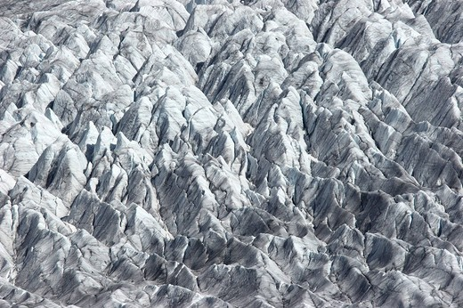 Stock Photo: 1848R-306051 Surface of the Aletsch Glacier, Bernese Alps, Valais canton, Switzerland, Europe