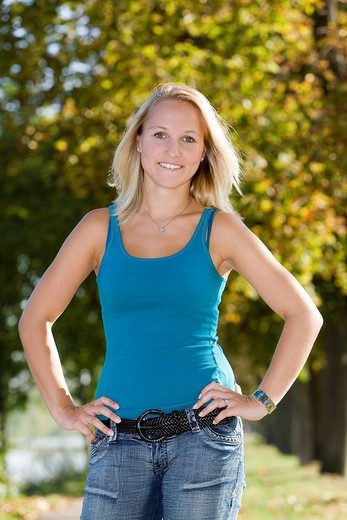 Stock Photo: 1848R-307357 A young blond woman