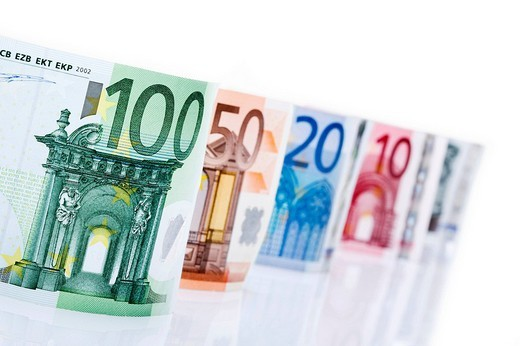 Various Euro bills : Stock Photo