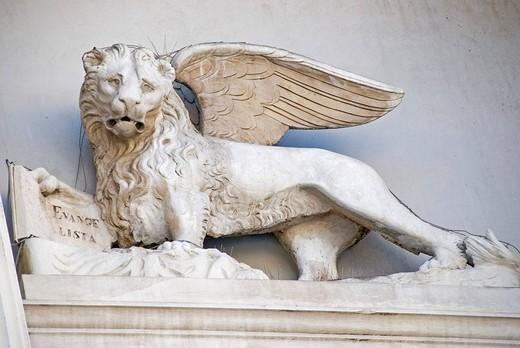 Stock Photo: 1848R-309032 St  Mark´s Lion, Piran, Slovenia, Europe