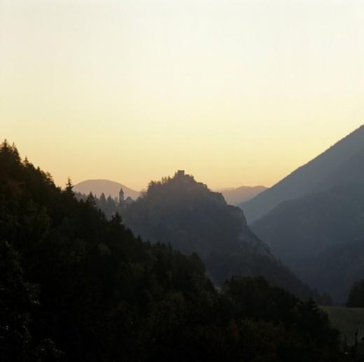 Stock Photo: 1848R-310620 Castle of Klamm at sunrise in Lower Austria Austria