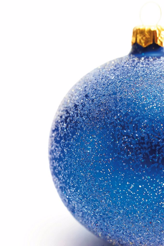 Blue Christmas decoration ball : Stock Photo