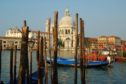 Stock Photo: 1848R-311447 Basilica di Santa Maria della Salute at Canal Grande, Venice, Italy