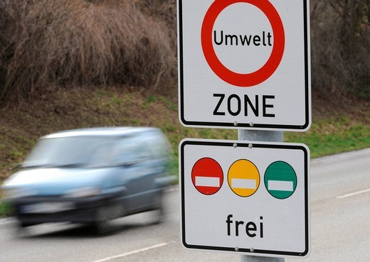 Green pollution-free zone Germany : Stock Photo