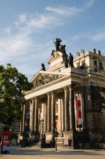 Stock Photo: 1848R-312325 Bruehlsche Terrassen terraces, Kunstakademie Academy of Arts, Dresden, Saxony, Germany