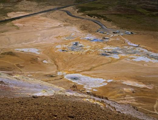 Stock Photo: 1848R-312515 Sulphur and solfatara at the hill Namafjall 432m, Myvatn, Iceland