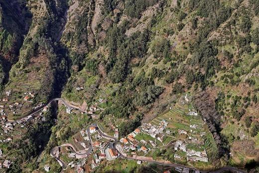 The nun valley, Curral das Freiras, Madeira, Portugal : Stock Photo