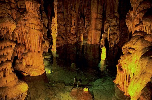 Stock Photo: 1848R-313673 Grottes the Katerloch, Dripstone cave, cave with stalagmites and stalactites, Austria