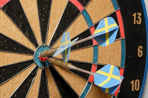 Stock Photo: 1848R-314045 Aim or target with dart arrows