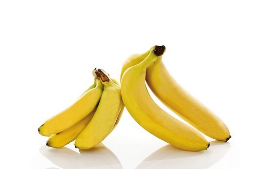 Baby bananas and bananas : Stock Photo