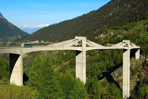 Ganter Bridge Simplon Pass Valais Switzerland : Stock Photo