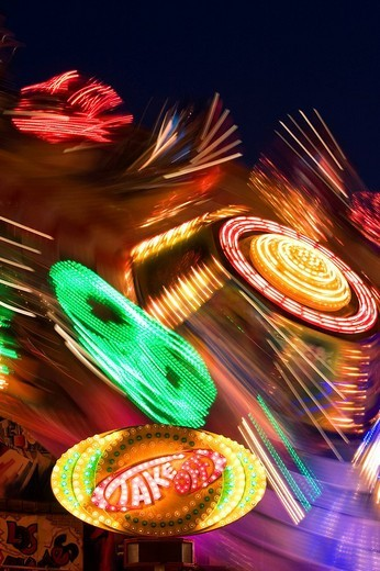 Stock Photo: 1848R-320544 Carnival ride at the Herbstfest, Autumn Fair, Ingolstadt, Bavaria, Germany, Europe