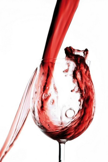 Stock Photo: 1848R-322338 Pouring red wine