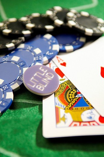 Texas Hold´em Poker Little Blind : Stock Photo