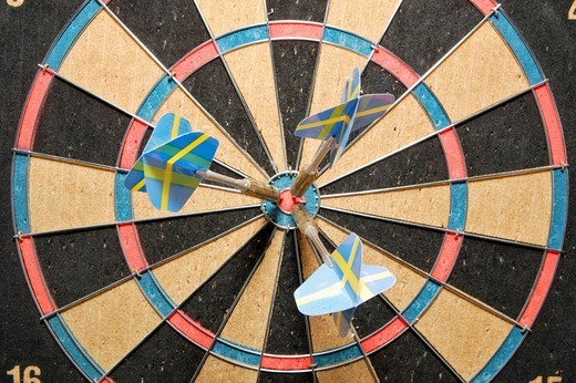 Aim or target with dart arrows : Stock Photo