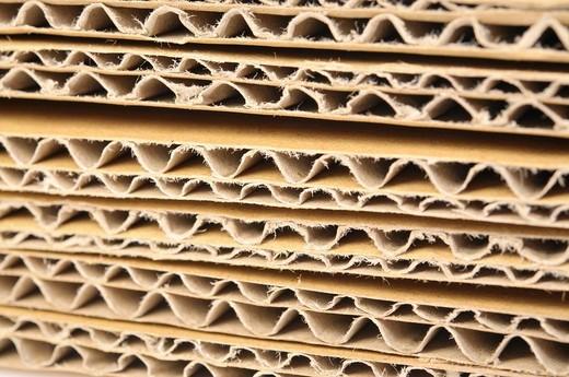 Corrugated fiberboard : Stock Photo