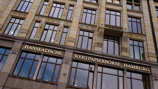 Photo of the old Hanseatische Wertpapierboerse, Stock Exchange Building in Rathausstr , Hamburg, Germany, Europe : Stock Photo