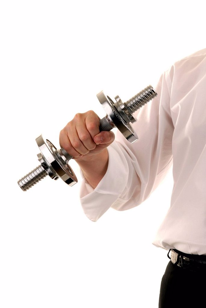 Arm with weights : Stock Photo