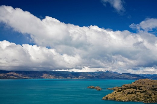 Lake Lago General Carrera or Lago Buenos Aires at Argentinia, Patagonia, Chile, South America : Stock Photo