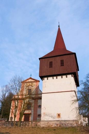 Stock Photo: 1848R-327857 All Saints´ church in Hronov, Nachod district, East Bohemia, Czech Republic, Europe