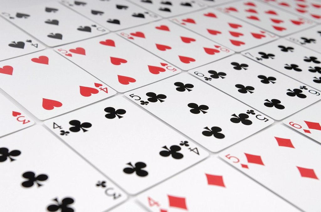 Stock Photo: 1848R-328004 Playing cards, abstract background