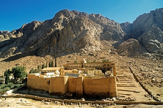 Katharinen monastery Sinai Egypt : Stock Photo