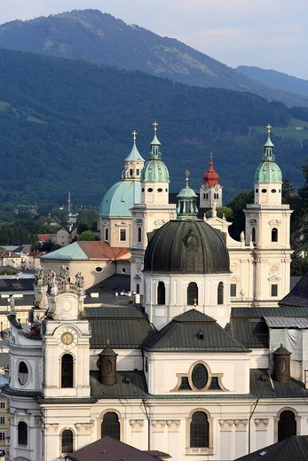 Stock Photo: 1848R-328813 Kollegienkirche Church, cathedral and monastery Nonnberg, Salzburg, Austria, Europe