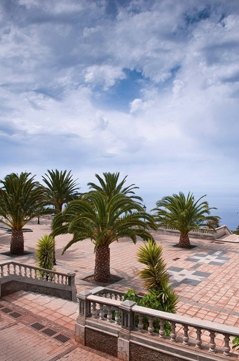 Stock Photo: 1848R-329856 Plaza Baltasar Martin, Santo Domingo de Garafia, La Palma, Canary Islands, Spain, Europe