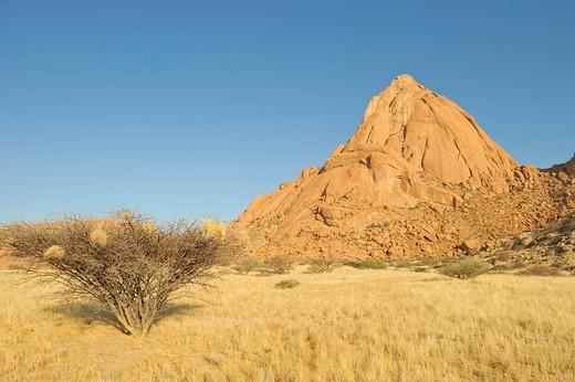 Stock Photo: 1848R-330080 Granite rocks of the Spitzkoppe mountain, Namibia, Africa