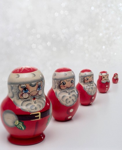 Stock Photo: 1848R-331446 Santa Claus figurines