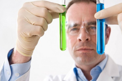 Stock Photo: 1848R-332098 Man working on an experiment in a laboratory