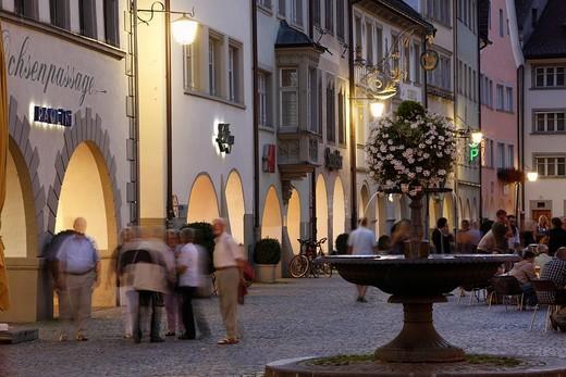 Marktgasse street, market square, Feldkirch, Vorarlberg, Austria, Europe : Stock Photo