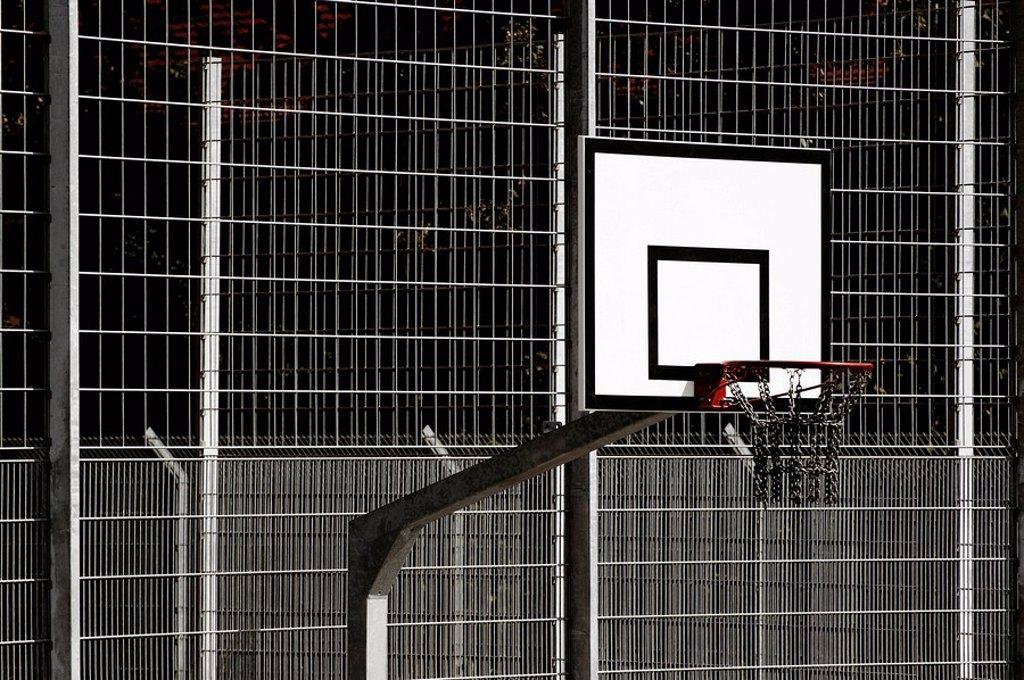 Stock Photo: 1848R-332234 Basketball hoop