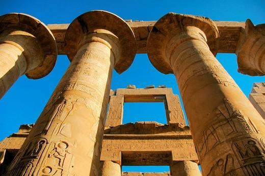 Stock Photo: 1848R-333502 Columns, Karnak Temple near Luxor, Egypt, Africa