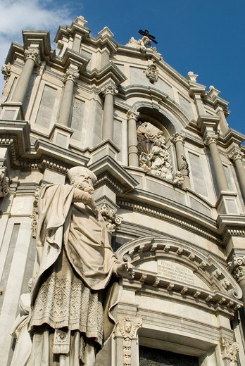 Stock Photo: 1848R-333822 West side of the cathedral at Piazza del Duomo, Catania, Sicily, Italy