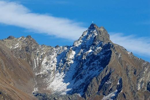 Mt  Peischlkopf, Kaunergrat, Kaunertal, Tirol, Austria : Stock Photo
