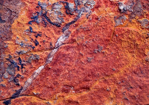 Textured rock surface, Tirol, Austria : Stock Photo