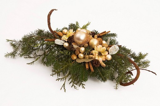 Advent flower arrangement : Stock Photo
