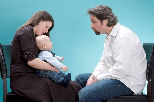Family, father, mother and baby : Stock Photo