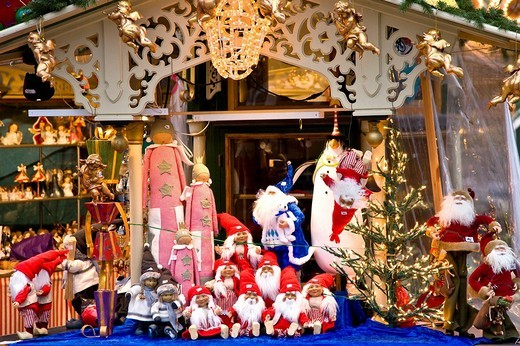 Stock Photo: 1848R-338392 Christmas decoration stall in Tivoli, Copenhagen, Denmark